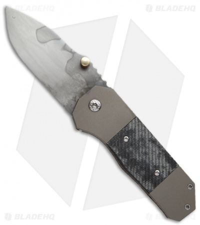 "Sheepdog Knives RFK Frame Lock Knife Titanium + Carbon Fiber (3"" Hamon)"