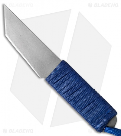 "Snody Knives Custom Urban Tanto Fixed Blade Knife Royal Blue (3.0"" Satin)"