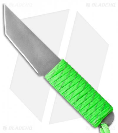 "Snody Knives Custom Urban Tanto Fixed Blade Knife Neon Green (3.0"" Satin)"