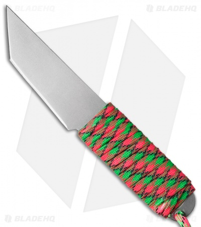 "Snody Knives Custom Urban Tanto Fixed Blade Knife Zombie Mardi Gras (3"" Satin)"