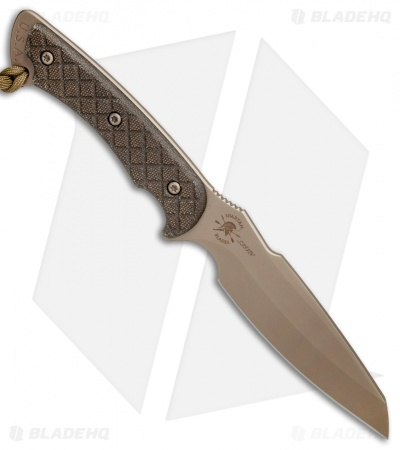 "Spartan Blades Hybris Fixed Blade Green Canvas Micarta (5.3"" FDE)"