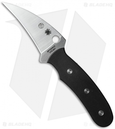 "Spyderco Reverse Fixed Blade Knife G-10 (3.5"" Satin) FB34GP"