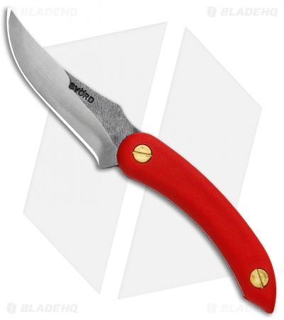 "Svord Amerikiwi Skinning Fixed Blade Knife Red (3.3"" Satin)"