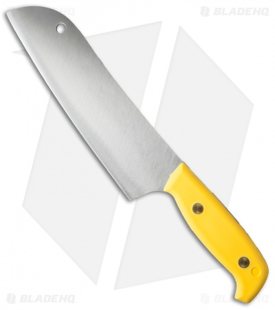 "Svord Kiwi Santoku Chef Fixed Blade Knife Yellow (7.25"" Satin)"