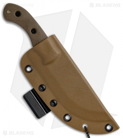 "TOPS Knives Mini Tom Brown Tracker #4 Fixed Blade Knife (3.5"" Coyote Tan)"