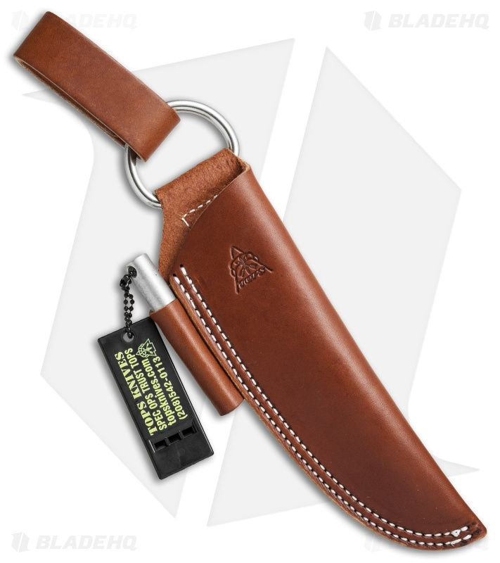 Tops Knives Bushcraft Brown Leather Sheath Blade Hq