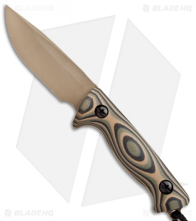 "Treeman Knives Recon Hunter Fixed Blade Knife Camo G10 (4.375"" Coyote Brown)"