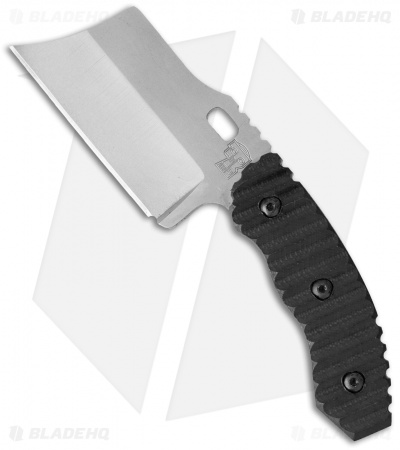 Trouble Blades Custom Mini DC Debt Collector Fixed Blade Knife Black G-10