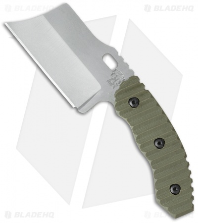Trouble Blades Custom Mini DC Debt Collector Fixed Blade Knife OD Green G-10