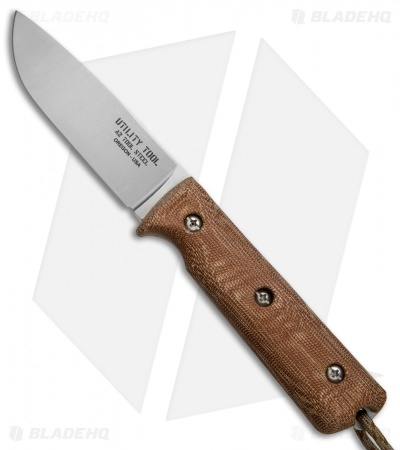 "Utility Tool Knives Wilderness Knife No. 4 Brown Micarta (4"" SW) UTK0100-2015"