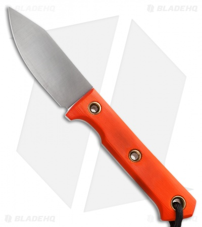 "Wallace Edged Tools FS I Fixed Blade Knife Orange G-10 (3.25"" Satin)"
