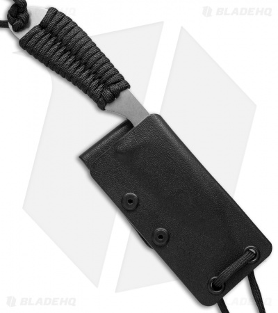 "White River Knives Backpacker Knife Black Paracord (3"" Stonewash)"