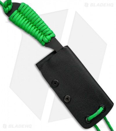 "White River Knives Backpacker Knife Reflective Green Paracord (3"" Black)"