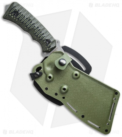 "Wolfpack Survival Rough Wolf Knife Green/Black G-10 (7.5"" Stonewash) WP4"