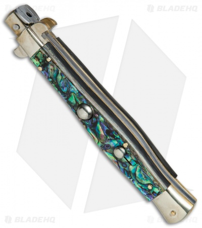 "AGA Campolin 11"" Picklock Automatic Italian Stiletto Abalone (5""Satin)"