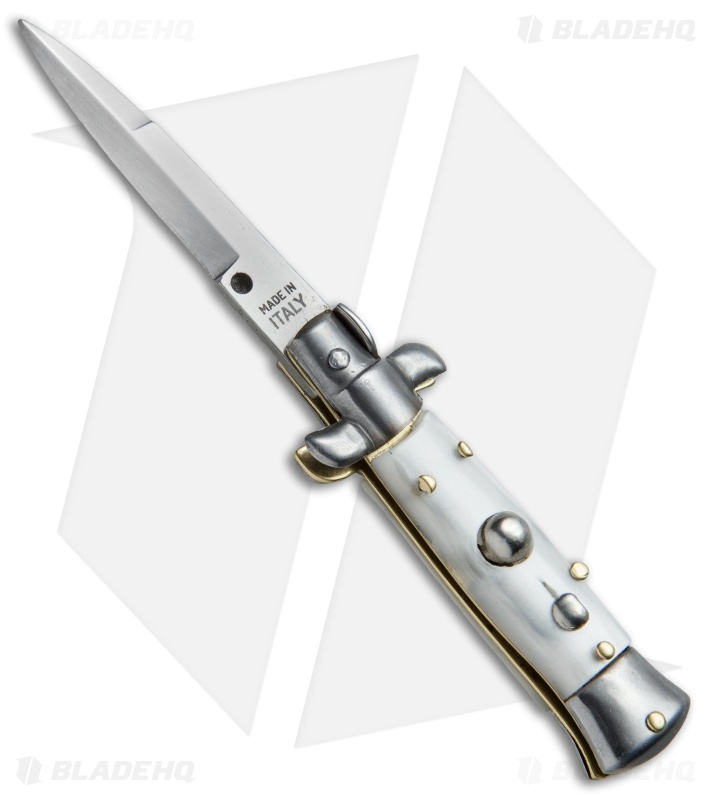 Skm 4 5 Quot Italian Mini Stiletto Automatic Knife White