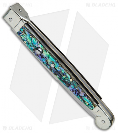 "AGA Campolin 12"" Sicilian Picklock Automatic Knife Abalone (5.5"" Satin Bayo)"