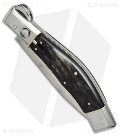 "Lepre 10"" Picklock Automatic Knife Brazilian Horn (4.2"" Satin)"