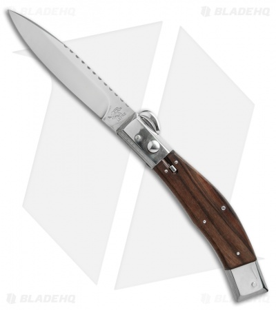 "Lepre 10"" Picklock Automatic Knife Ironwood w/ Filework (4.2"" Satin)"
