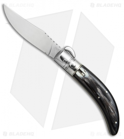 "Lepre 9"" Sicilian Picklock Automatic Knife Dark Horn (3.7"" Polish)"