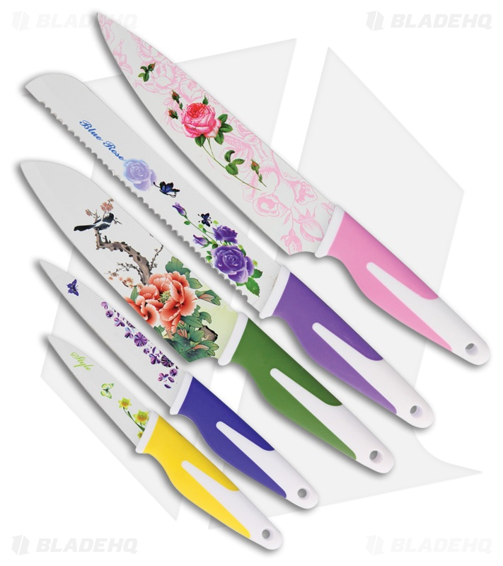 Benchmark Floral 5-Piece Kitchen Set Multi-Colored Rubber