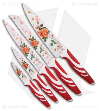 Benchmark Red Rose 5-Piece Kitchen Set