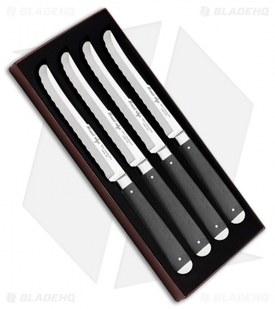"Case Cutlery Steak Knife Set 5"" Smooth Ebony (M254) 11000"