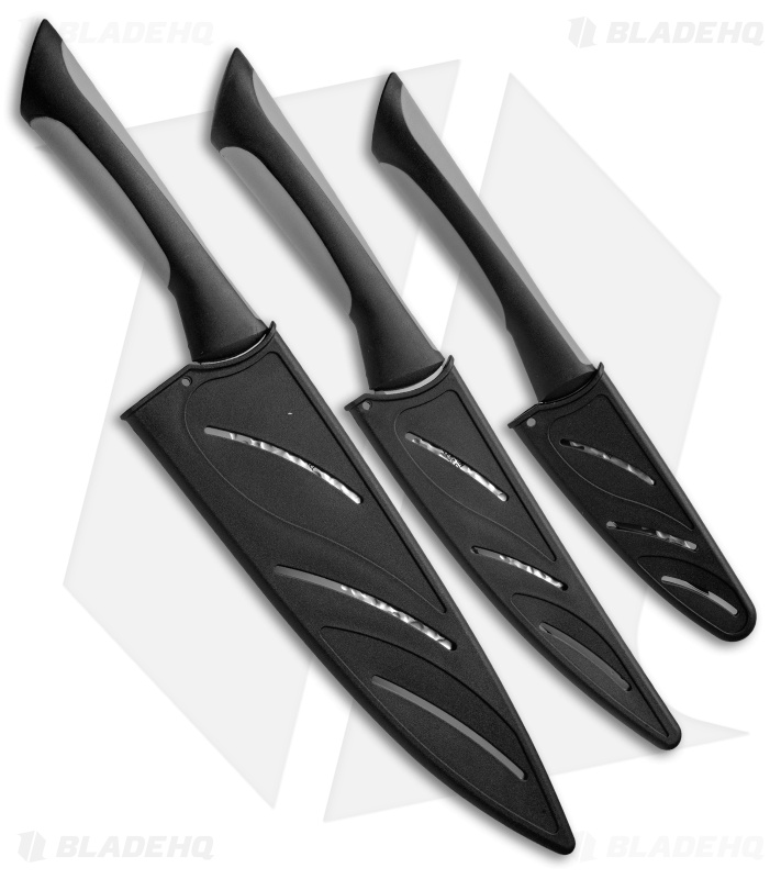 kai luna 3 piece essential kitchen knife set abs0370