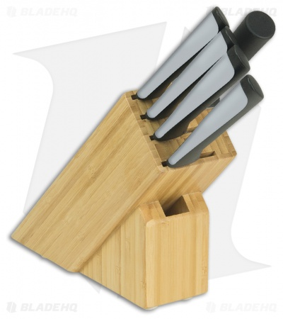 KAI Luna 6-Piece Kitchen Knife Set w/ Wood Storage Block - 0620