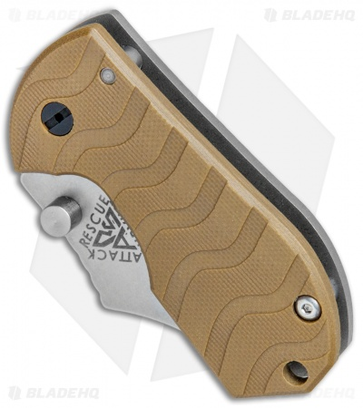 "A.R.S. Flip Shank Folder Coyote Brown G-10 Knife (2"" Stonewash)"