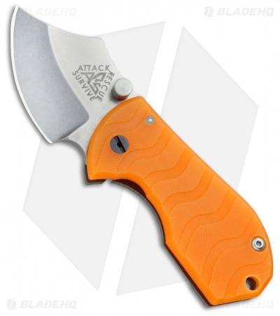 "A.R.S. Flip Shank Folder Translucent Orange G-10 Knife (2"" Stonewash)"