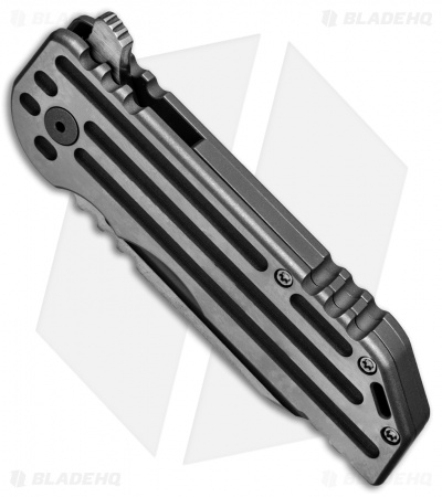 "Alphahunter Tactical Custom White Knight Warhorse Frame Lock Knife (3.5"" Satin)"