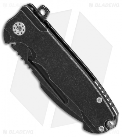 "Andre De Villiers Mini Harpoon Prototype Knife Black Ti (3.1"" Black SW) AdV"