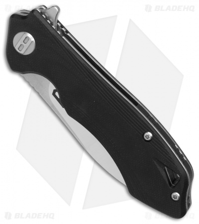 "Bestech Knives Beluga Liner Lock Knife Black G-10 (3"" SW, Satin) BG11A-2"