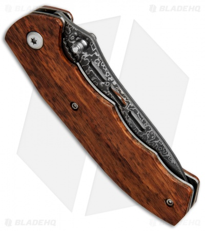 "Buck N Bear Python Liner Lock Knife Snakewood (3"" Damascus)"