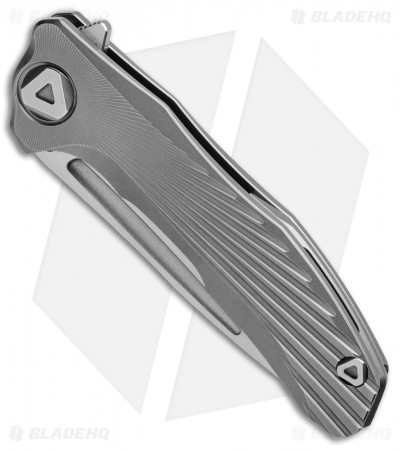 "Venom: New Concept Frame Lock Knife Gray Ti (3.8"" Satin)"