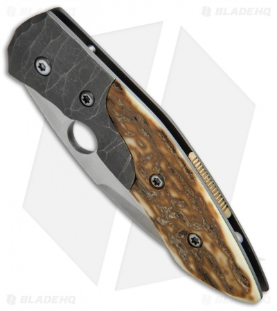 "Deviant Blades Freestyle Frame Lock Knife Mammoth Ivory (3.375"" Satin)"