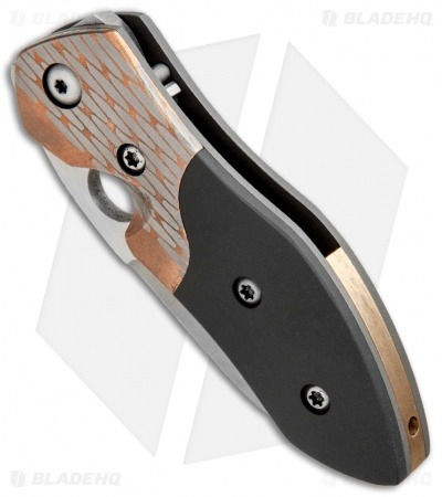 "Deviant Blades Mini Myrtle Frame Lock Knife Zirc/Superconductor (2.875"" Satin)"