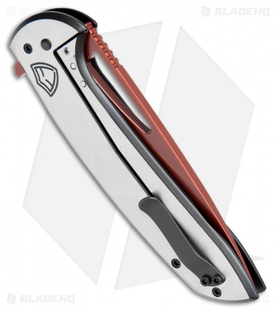 "Ferrum Forge Stinger XL Frame Lock Knife Saber Two-Tone (4"" Force User Red)"