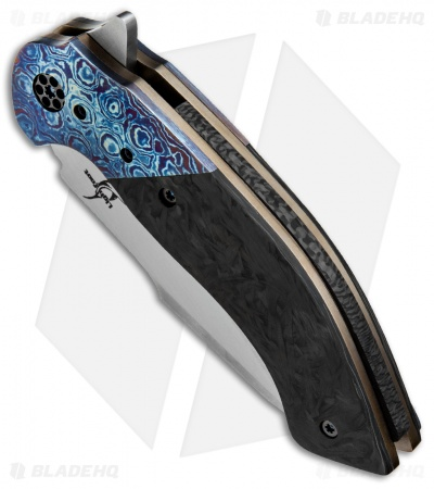"Greg Lightfoot Custom Offspring Knife CF/MokuTi (3.75"" Satin)"