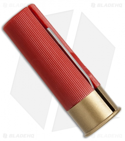 "HallMark Shotgun Shell Slip Joint Knife Red (1.75"" Satin)"