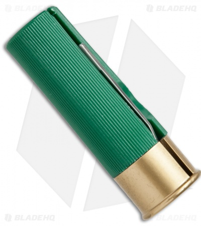 "HallMark Shotgun Shell Slip Joint Knife Green (1.75"" Satin)"