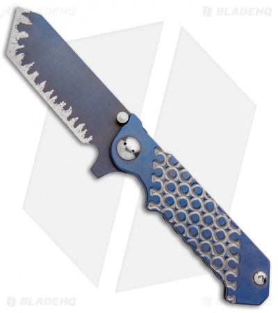 "J-2 Knives Titanium Tanto Frame Lock Knife (3.75"" Ti Blurple)"