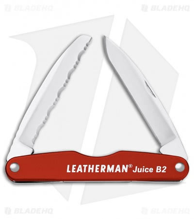 "Leatherman Juice B2 Pocket Knife 3.25"" Cinnabar Orange Al 832366"