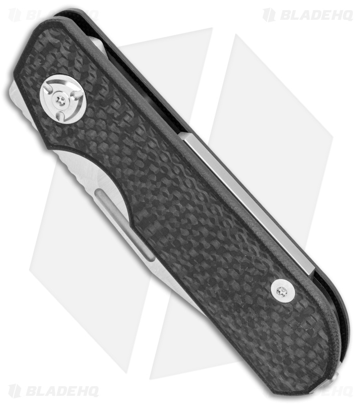 "Liong Mah Design Traveler Clip Point Slip Joint Knife Carbon Fiber (2.7"" Satin)"