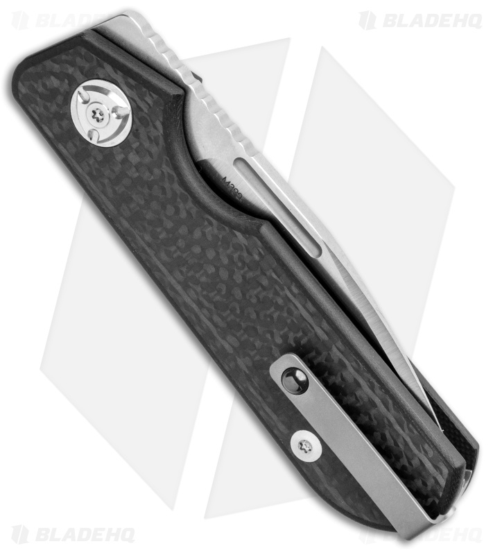 "Liong Mah Design Traveler Spear Point Slip Joint Carbon Fiber (2.7"" Satin)"