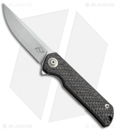 "Liong Mah Design Warrior One V2 Frame Lock Knife Carbon Fiber (3.375"" Stonewash)"