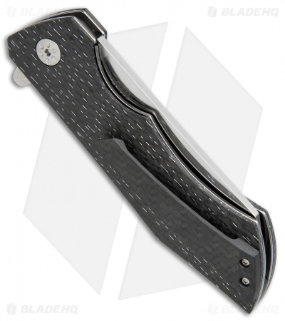 "Maserin AM-2 Liner Lock Flipper Knife LS Carbon Fiber (3.5"" Satin) 378/CT"