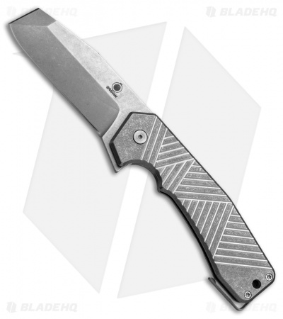"Graham Knives Midtech Razel Flipper Knife Titanium (3.25"" Stonewash) GMT"