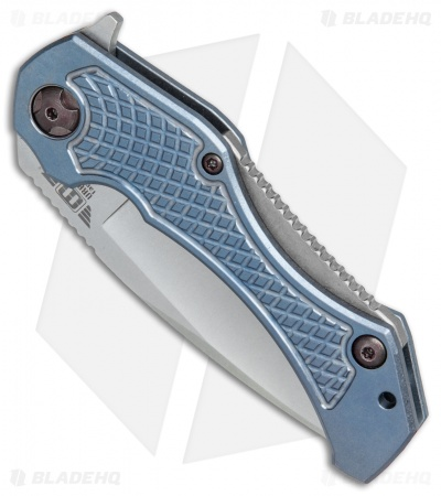 "Mikkel Willumsen Urban Tactical Tyran Flipper Knife Blue Titanium (3.6"" SW)"